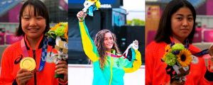 Three Young Girls Become Stars at the Tokyo Olympics