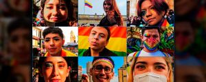 The Rainbow March for the Defense of the Rights of the LGBTQI+ Community