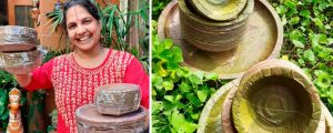 Couple's Leaf-Made Disposable Plates in Hyderabad