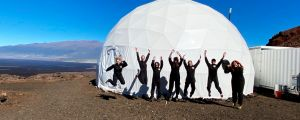 All-female crew returned to earth from 'Mars'